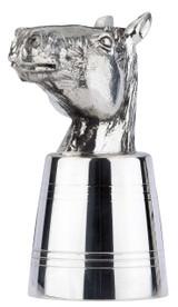 Horse Head Stirrup Cup 4oz English Pewter