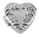 English Sterling Pillbox Heart Shaped (PB423)