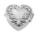 English Sterling Pillbox Heart Design