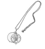 English Sterling Glass Magnifier with Butterfly Design on Chain Magnifier (PT275)