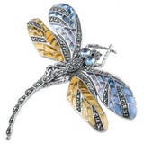 Sterling Silver Brooch Dragonfly Design (B222)