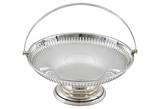 English Round Pierced Basket, C.1900