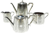 English Coffee & Tea Set, C. 1870, 4 Pcs