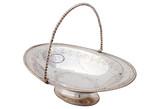 English Basket w/ Twist Handle, C. 1860 (A4072)