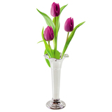 Silver Plate Bud Edge Vase