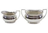 English Silver-Plate Cream Jug & Sugar (A7599I)