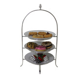 3 Tier Hotel Cake Stand with Royal Copenhagen New Plates