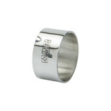 Heavy Plain English Pewter Napkin Ring with Makers Mark