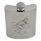 English Pewter Downhill Skier Flask 6oz (EB30276)