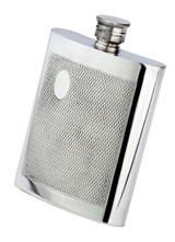 Flask Barley Design English Pewter 8oz. (P622)
