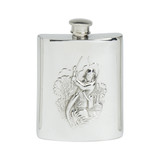 English Pewter Fly Fishing Flask 6oz (EB30246)