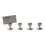 Heart Shape Place Card Holder S/4
