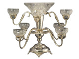 Victorian 9 Glass Epergne B.S.P Style (C1221)