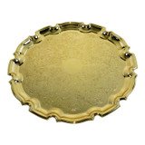 """12"""" Chippendale Tray Gold Finish (4/6180)"""
