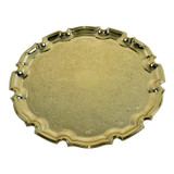 """Queen Anne 9.5"""" Chippendale Tray Gold Finish (4/6181GOLD)"""