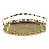 Small Swing Handle Gallery Tray Gold Finish (4/6097)
