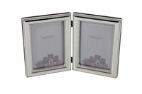 Double Sterling Bead Edge Frame with Beveled edge & Wood Back