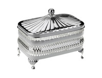 Oblong Butter Dish Silver Plate
