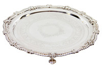 "13.75"" Silver Plate Footed Salver C.1875"