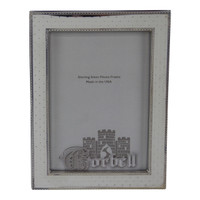 "Finest Quality Sterling /Wood Frame with Sparkling Dots 5"" x 7"""