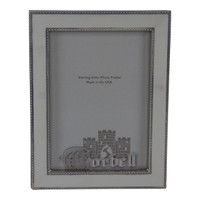 """Double Beaded Sterling / Wood Frame with plain inside 5"""" x 7"""""""