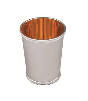 Plain silver Mint Julep cup, gilded inside - 31cl (10 fl/oz)