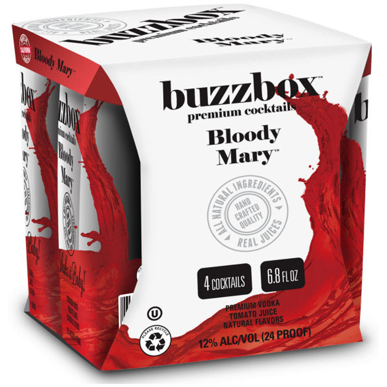 Buzzbox Bloody Mary Cocktails 200ml 4 Pack