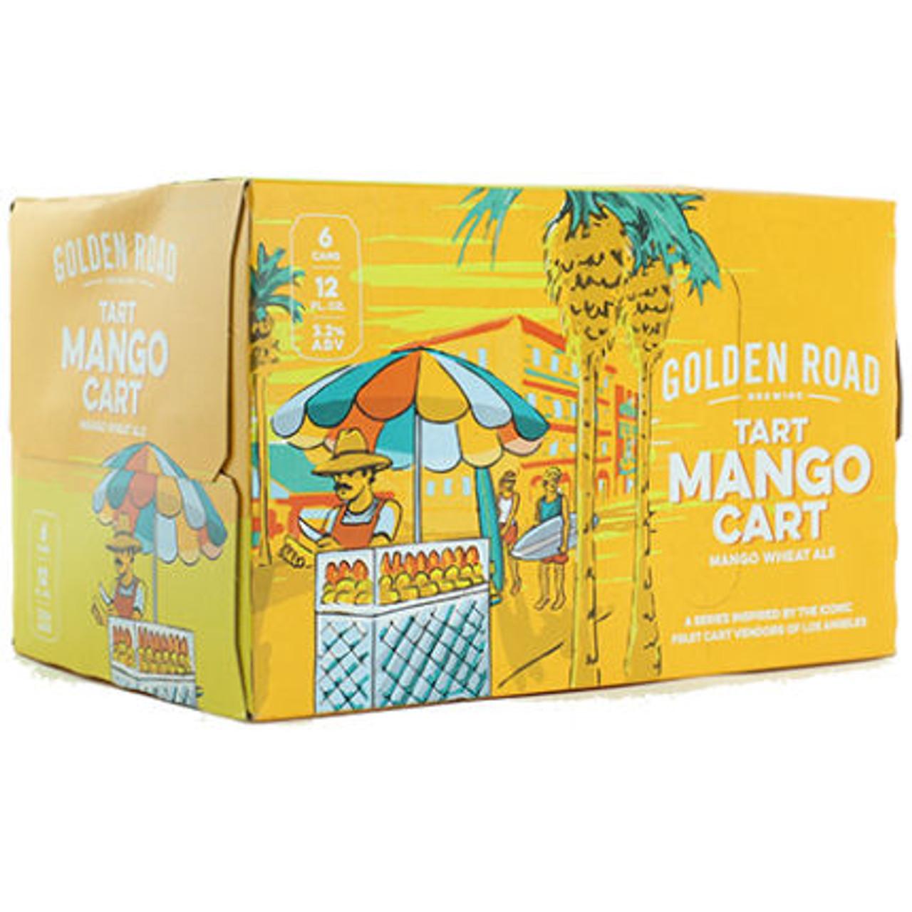 Golden Road Mango Cart Tart Wheat Ale 12oz 6 Pack Cans