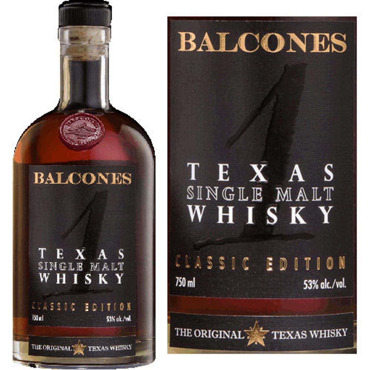 Balcones 1 Texas Single Malt Whisky 750ml