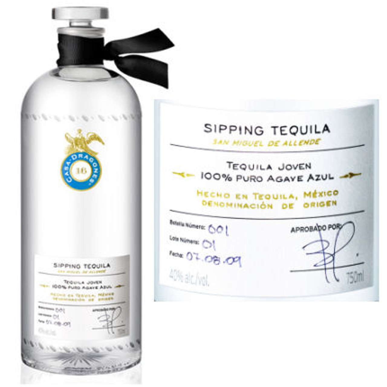 Casa Dragones Agave Azul Sipping Tequila 750ml