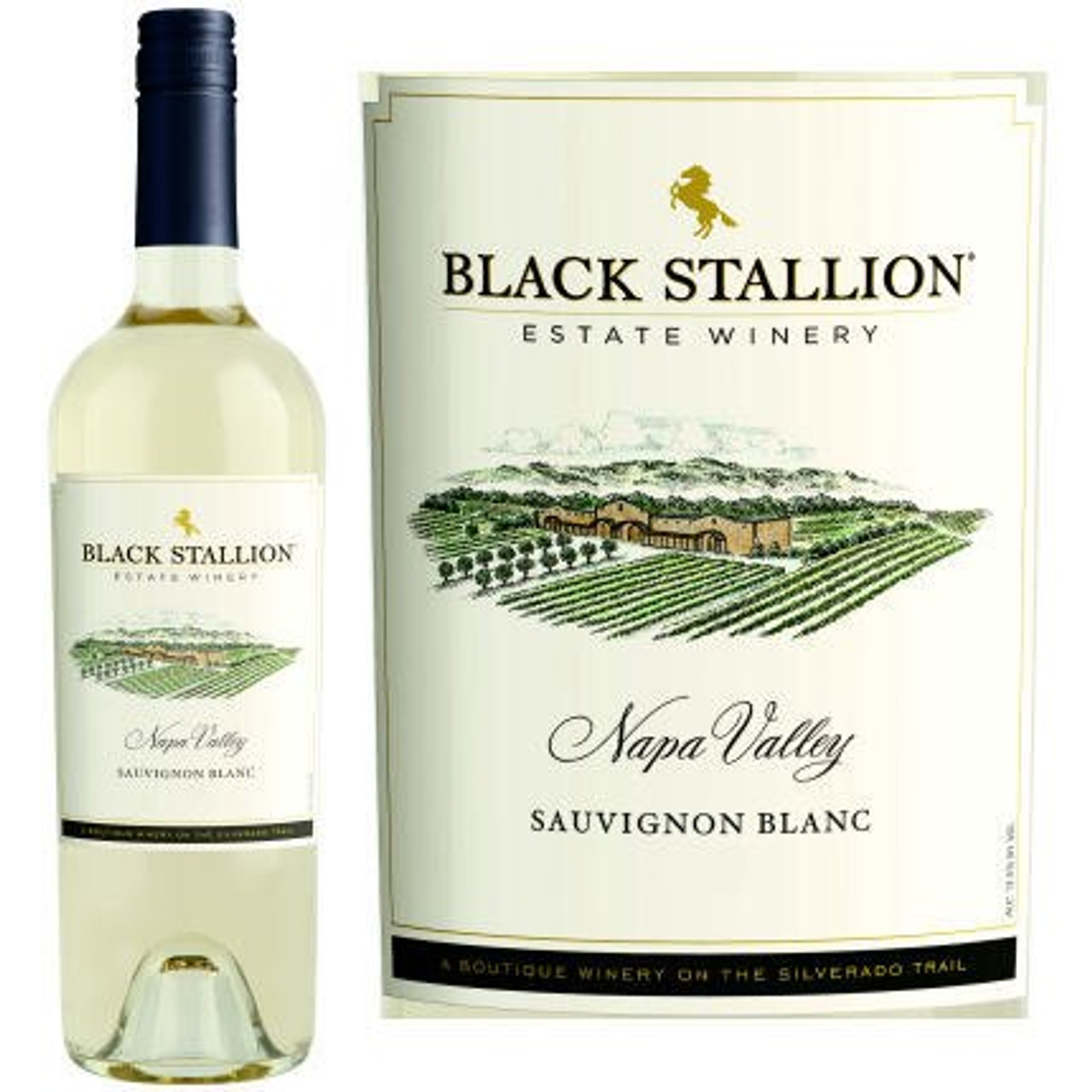 12 Bottle Case Black Stallion Napa Sauvignon Blanc 2017 Rated 91WE EDITORS CHOICE w/ Free Shipping
