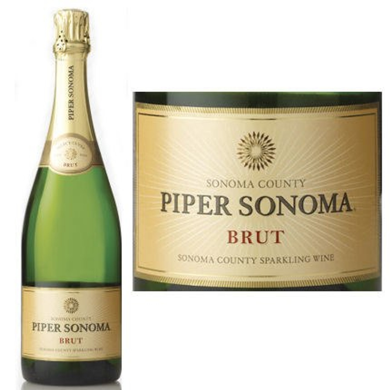 12 Bottle Case Piper Sonoma Brut NV w/ Free Shipping