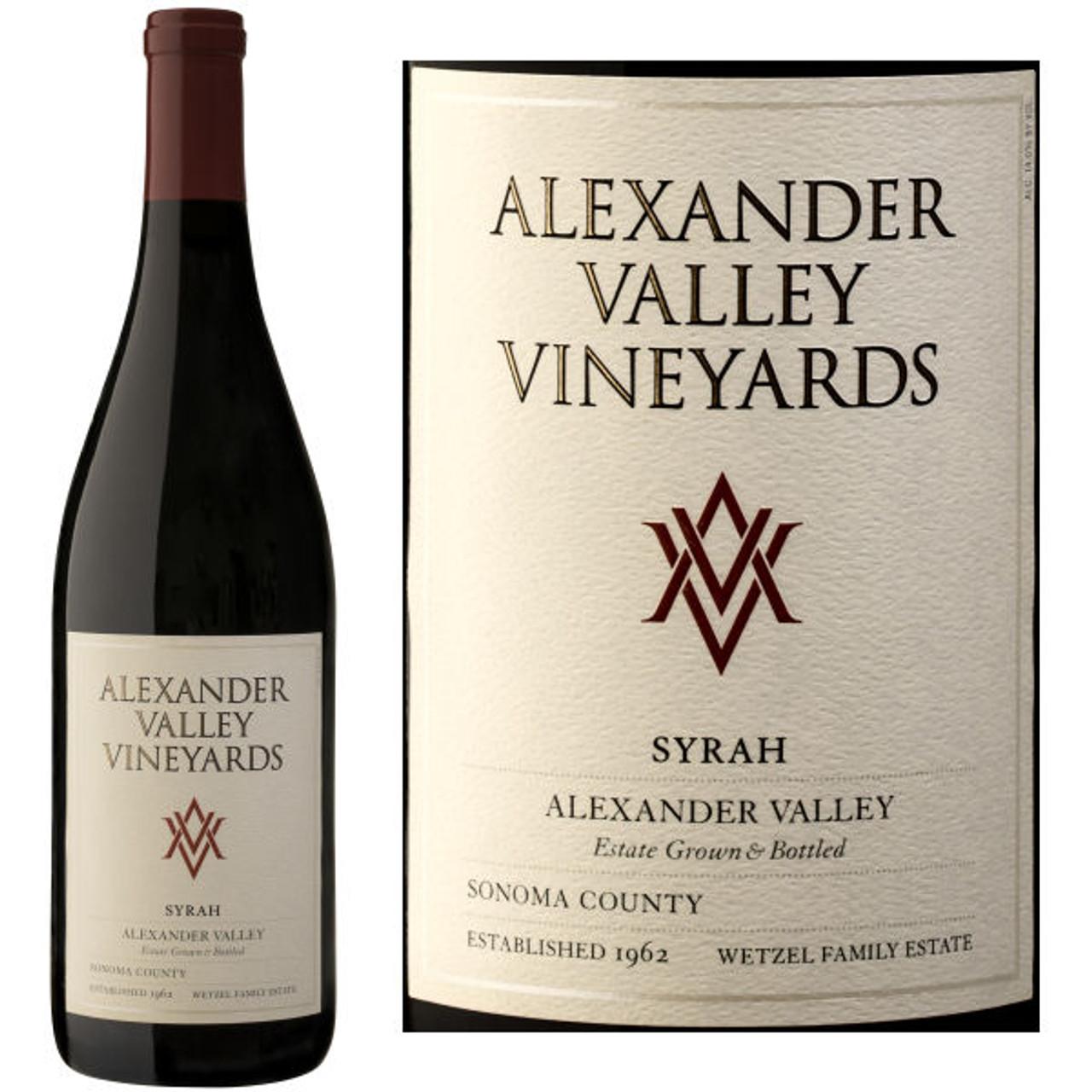 Alexander Valley Vineyards Wetzel Family Estate Syrah