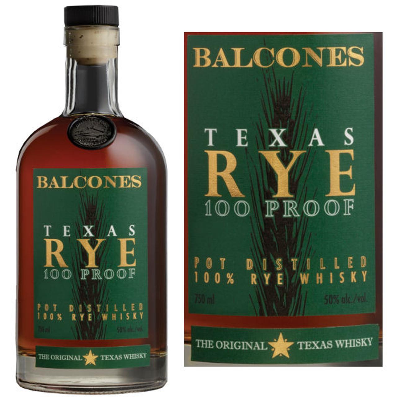 Balcones Rye Texas Whisky 750ml