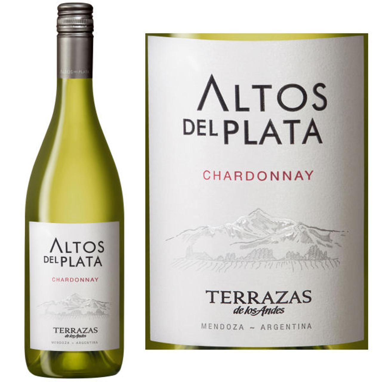 12 Bottle Case Terrazas De Los Andes Altos Del Plata Chardonnay 2017 W Free Shipping