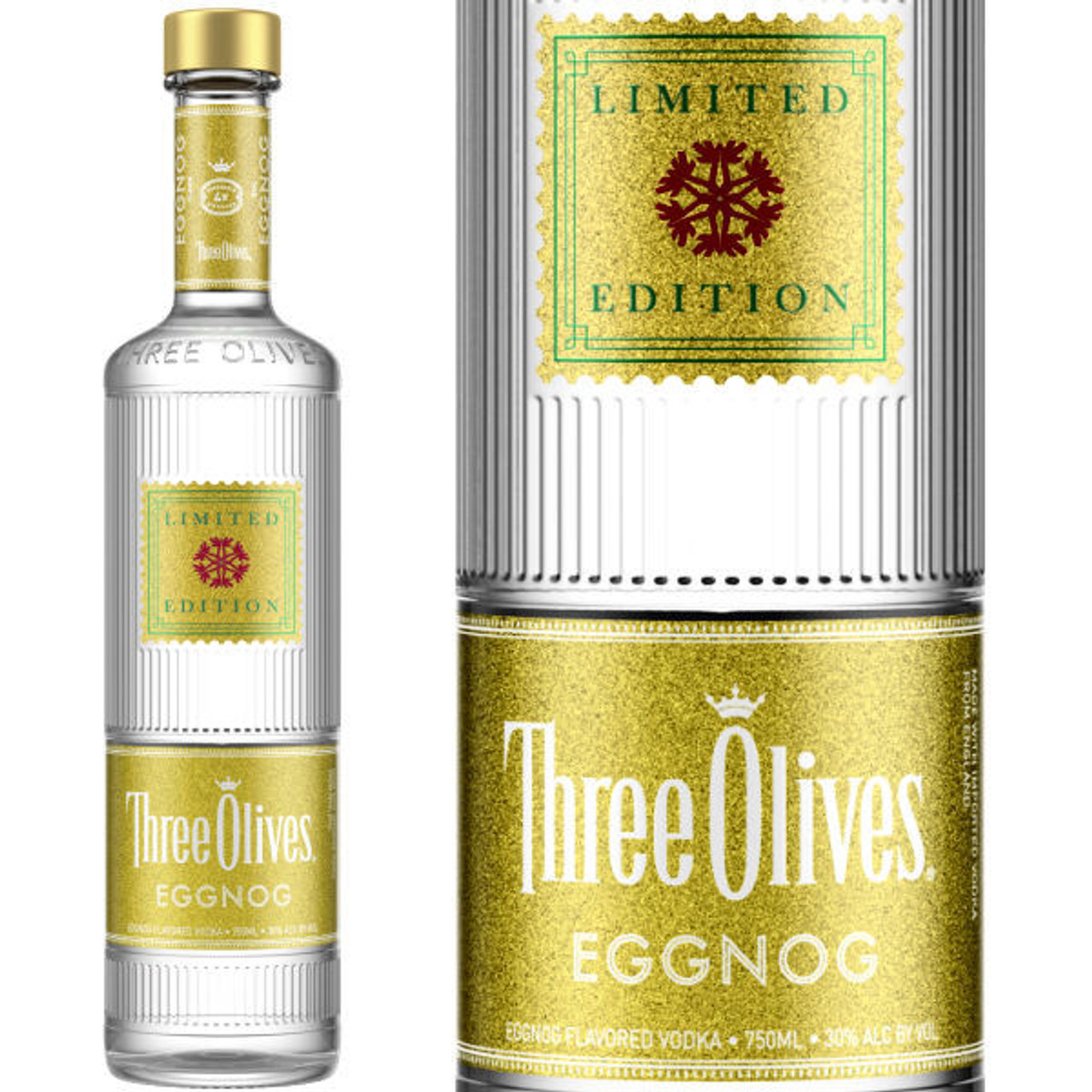 Three Olives Limited Edition Egg Nog Vodka 750ml
