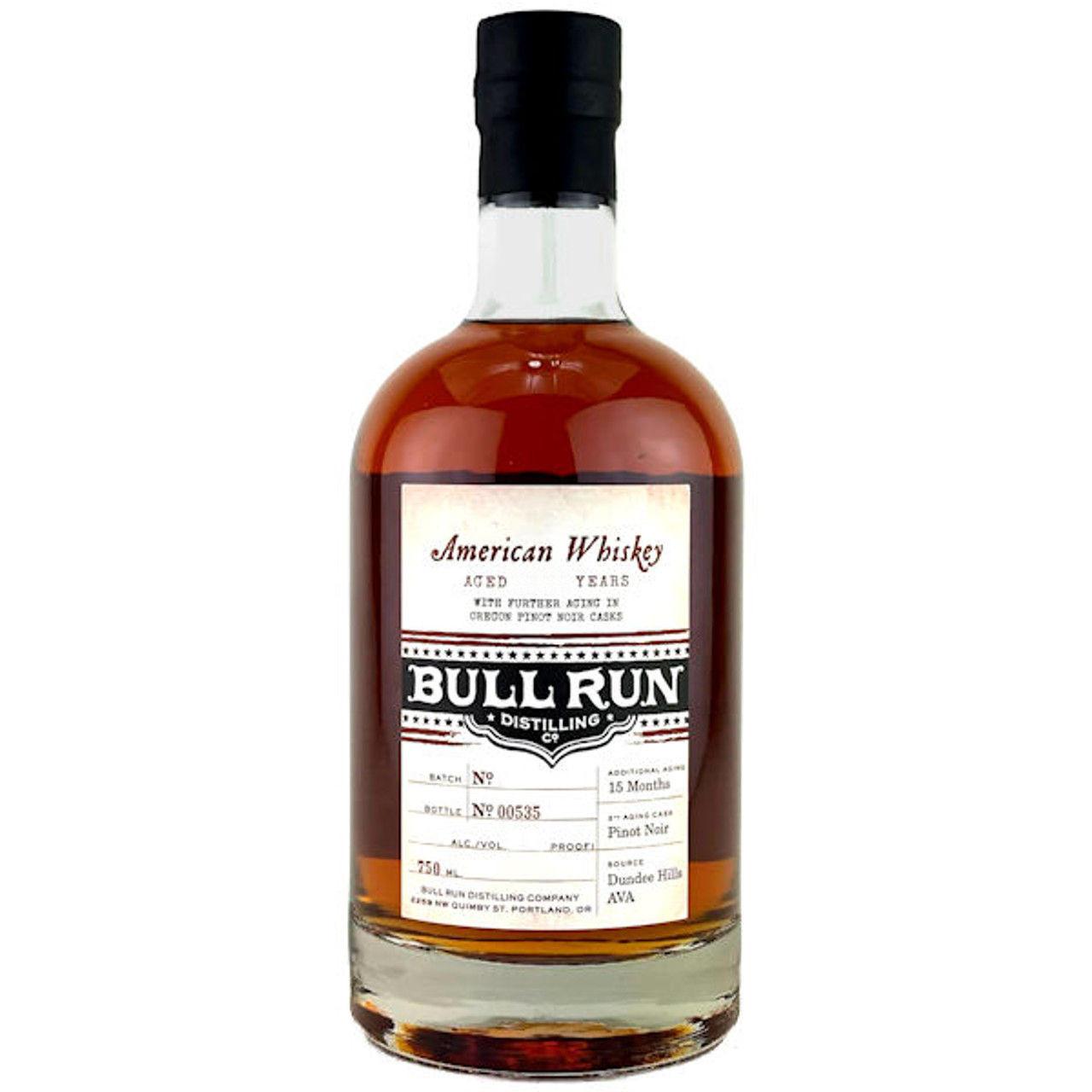 Bull Run 13 Year Old Pinot Noir Finish American Whiskey 750ml