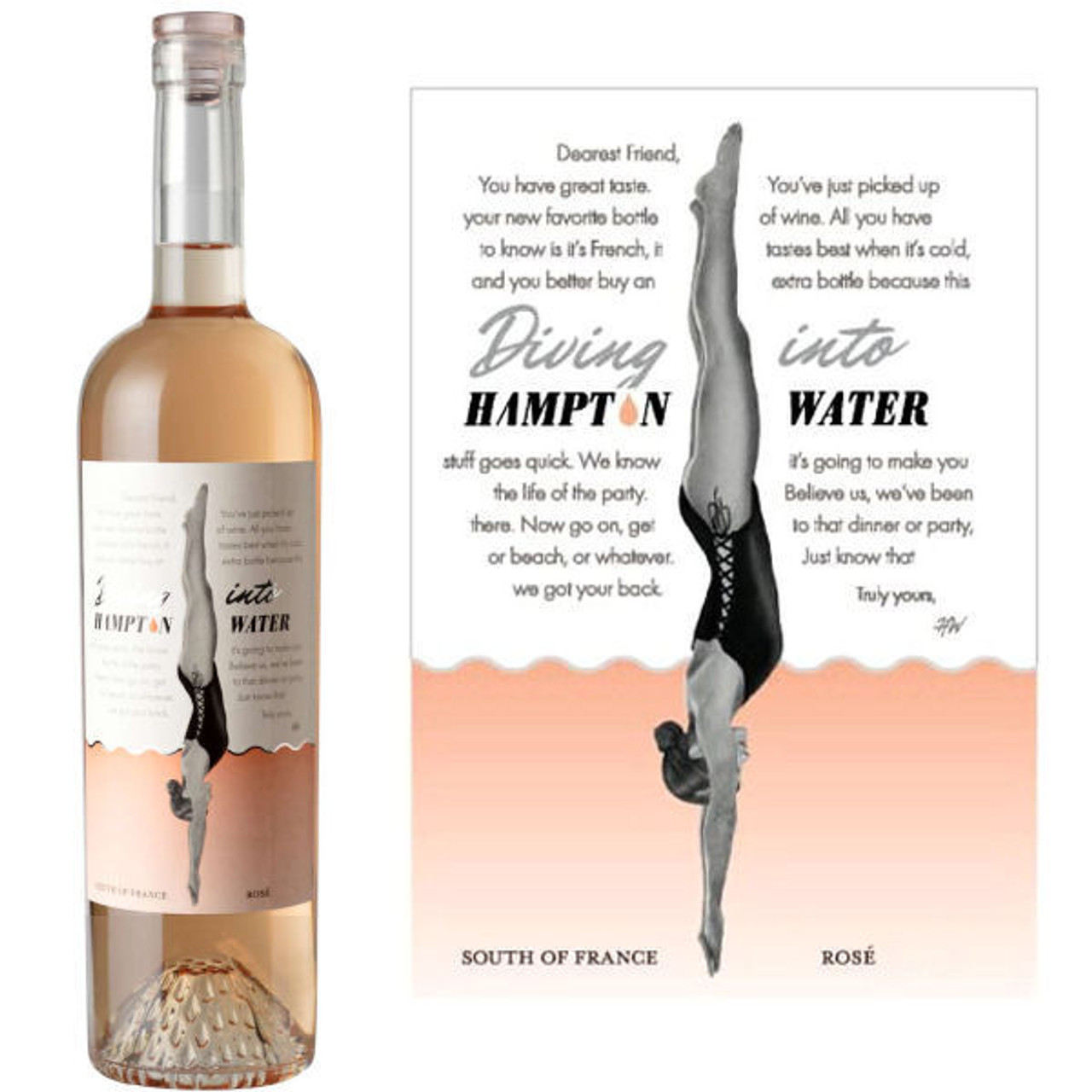 Diving Into Hampton Waters South of France Rose