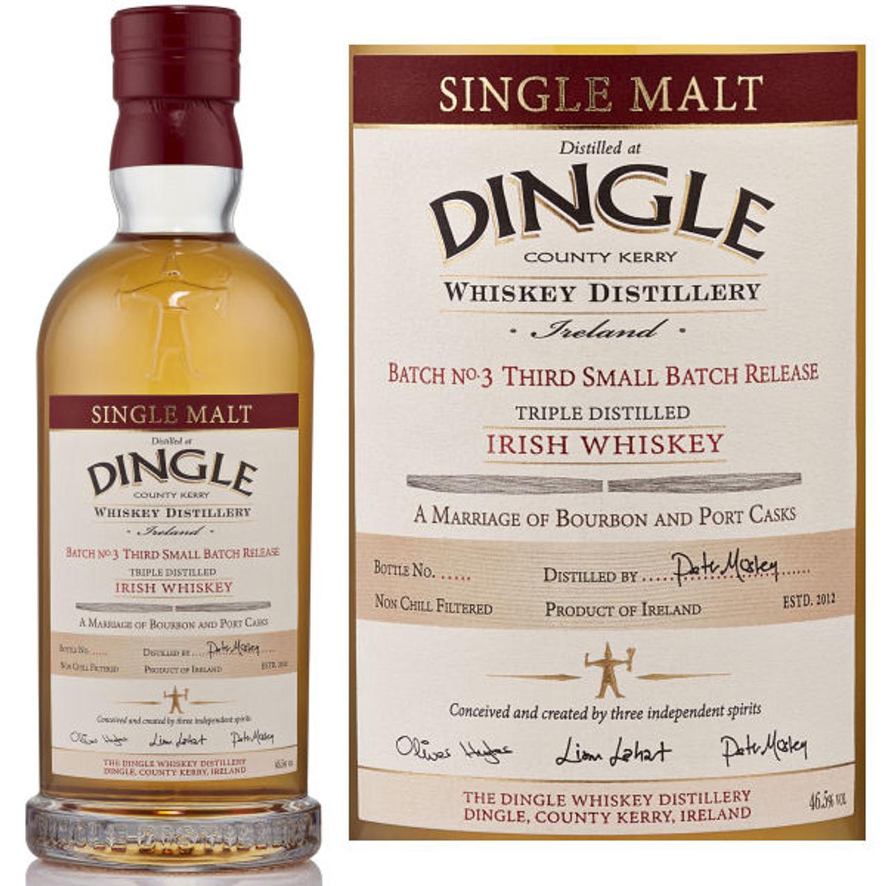 Dingle Batch No.3 Single Malt Irish Whiskey 750ml