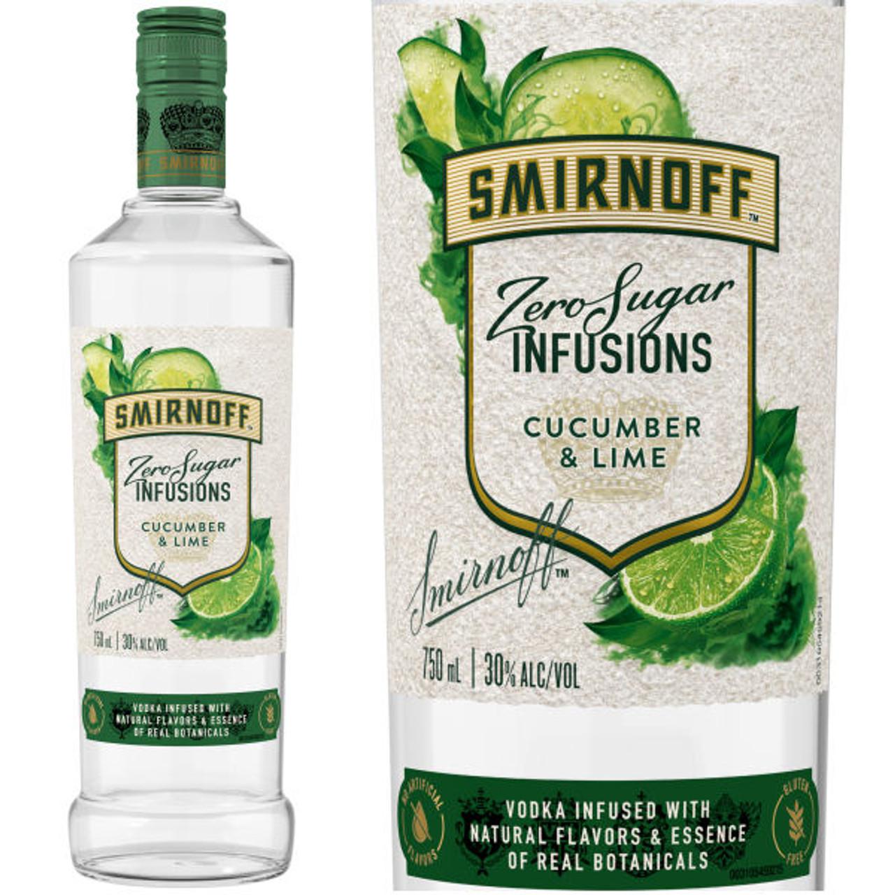 Smirnoff Infusions Zero Sugar Cucumber & Lime Vodka 750ml