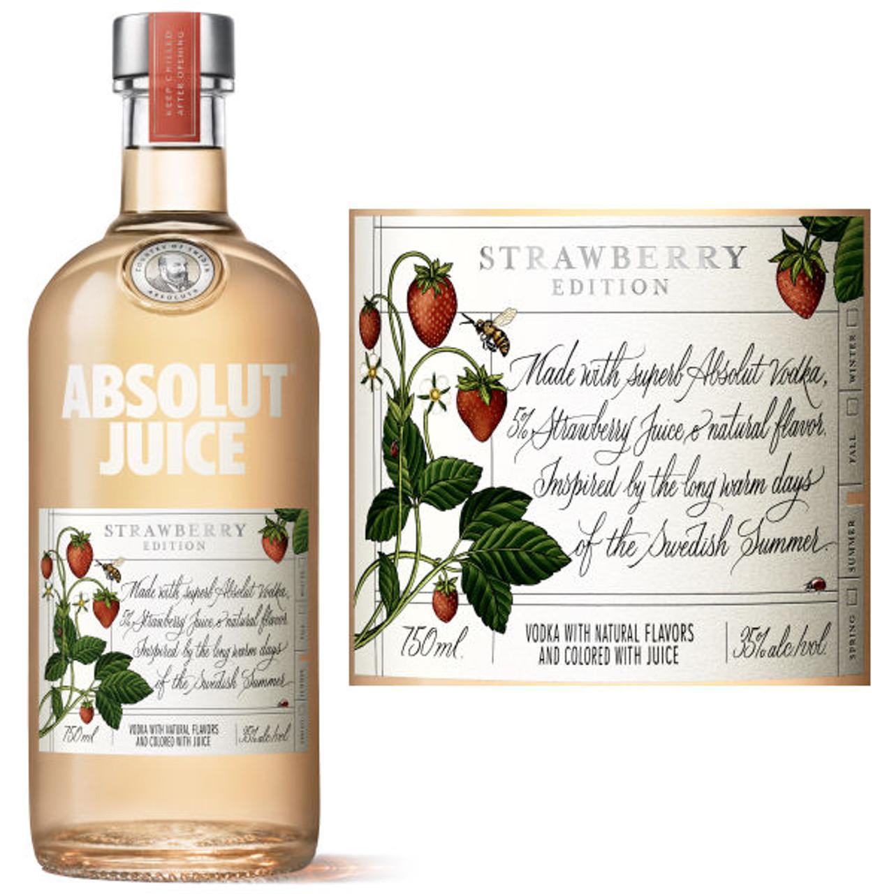 Absolut Juice Strawberry Edition Vodka 750ml