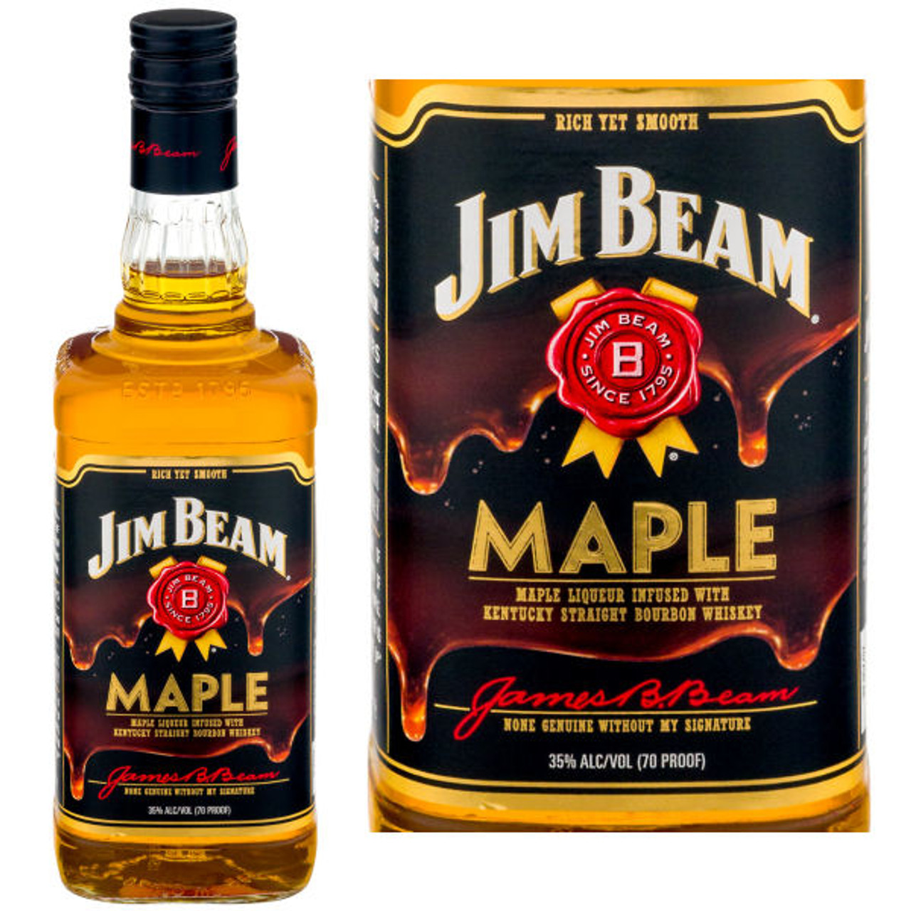 Jim Beam Maple Bourbon Liqueur 750ml