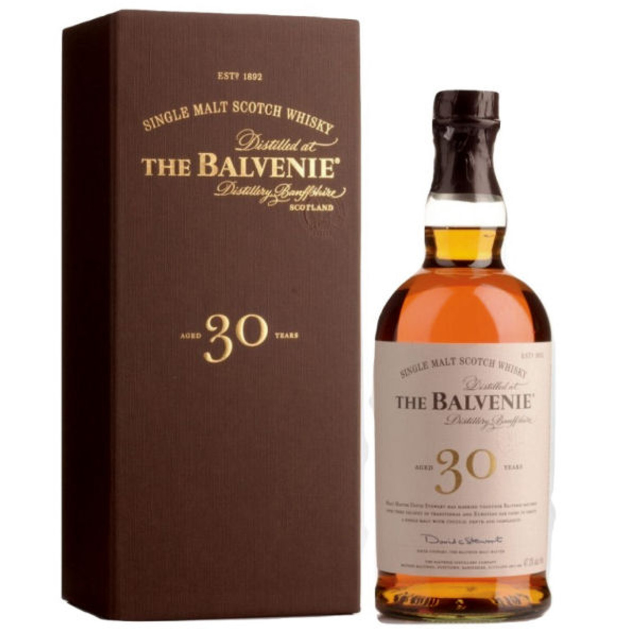The Balvenie 30 Year Old Speyside Single Malt Scotch 750ml