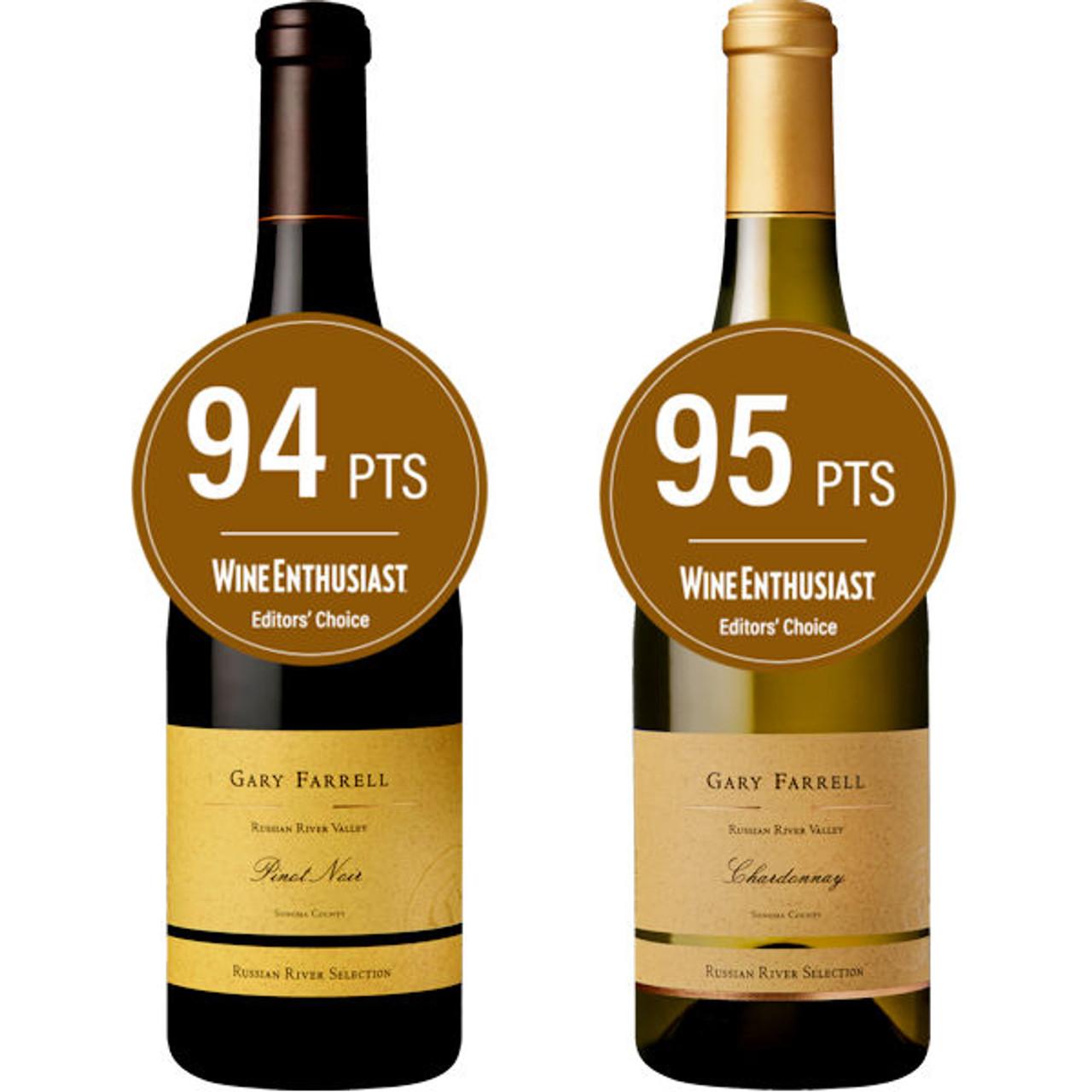 Gary Farrell Russian River Pinot Noir/Chardonnay 2 Bottle Combo
