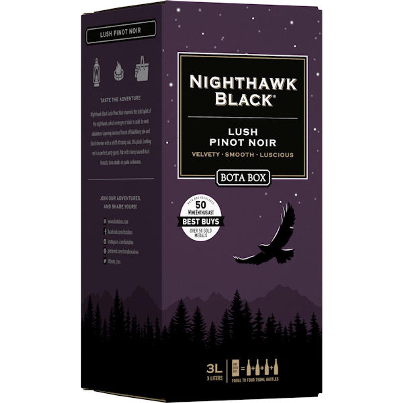 Bota Box Nighthawk Black Lush Pinot Noir 3L