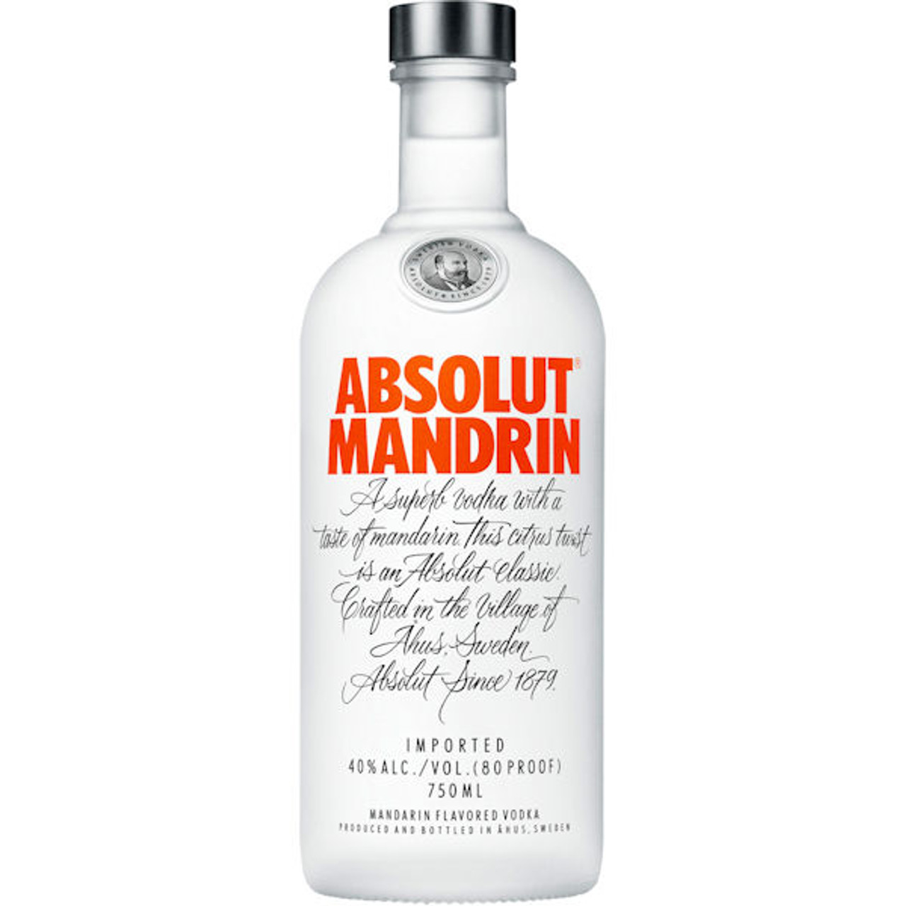 Absolut Mandrin Swedish Grain Vodka 750ml Rated 90-95