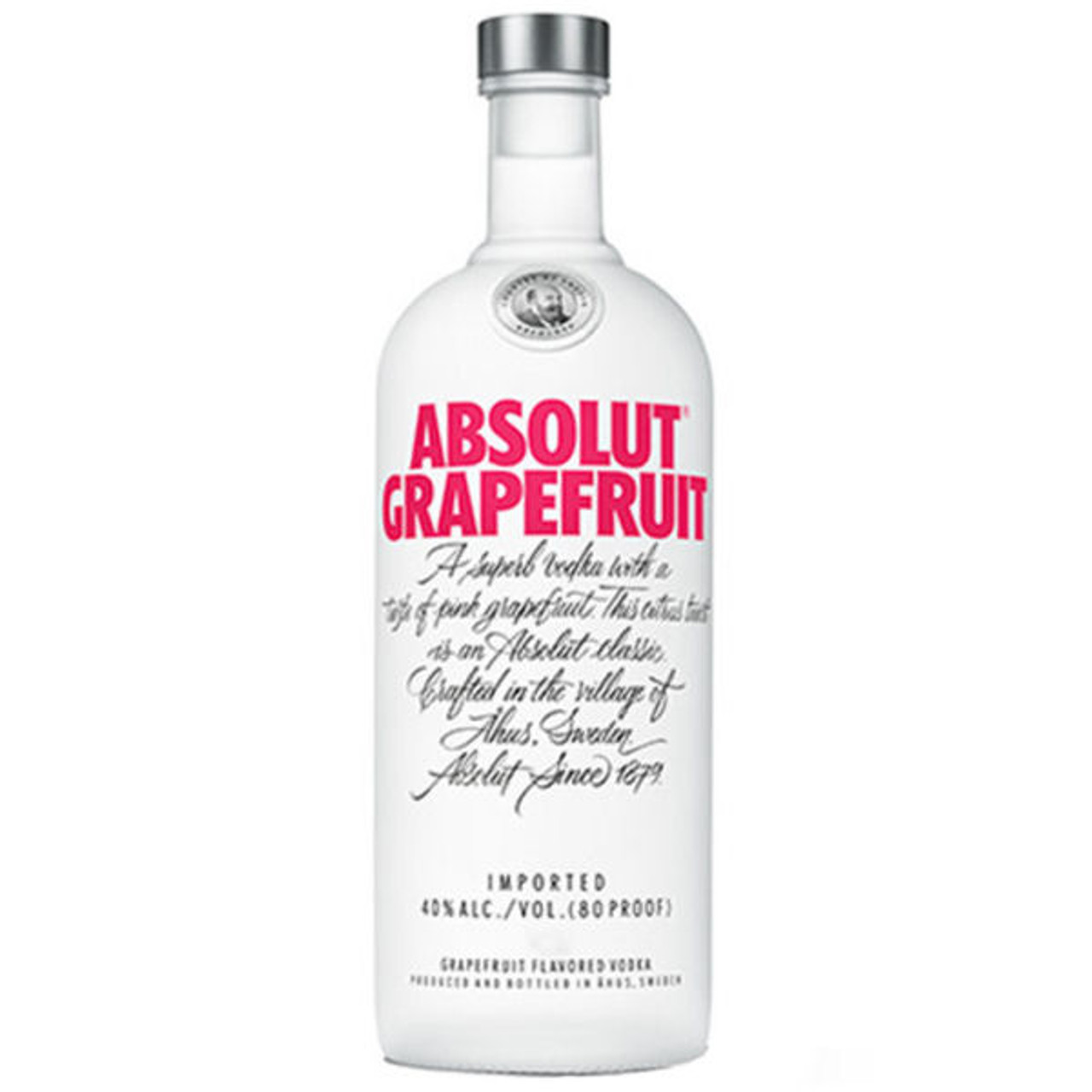Absolut Grapefruit Swedish Grain Vodka 750ml