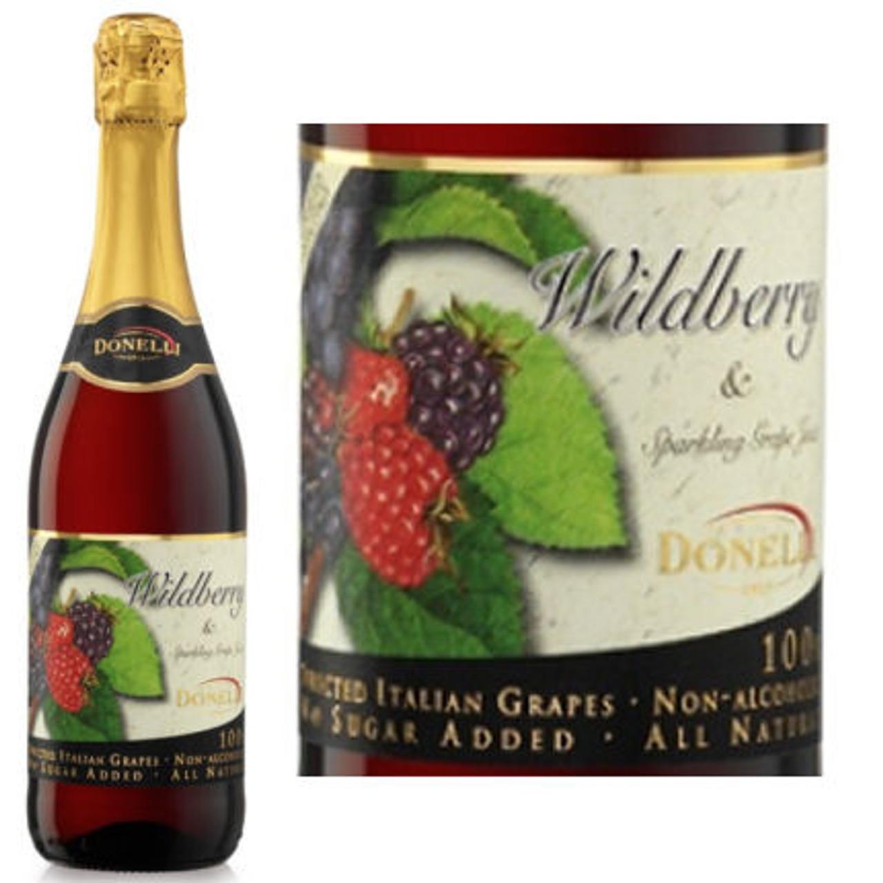 Donelli Wildberry Flavor Sparkling Grape Juice NA