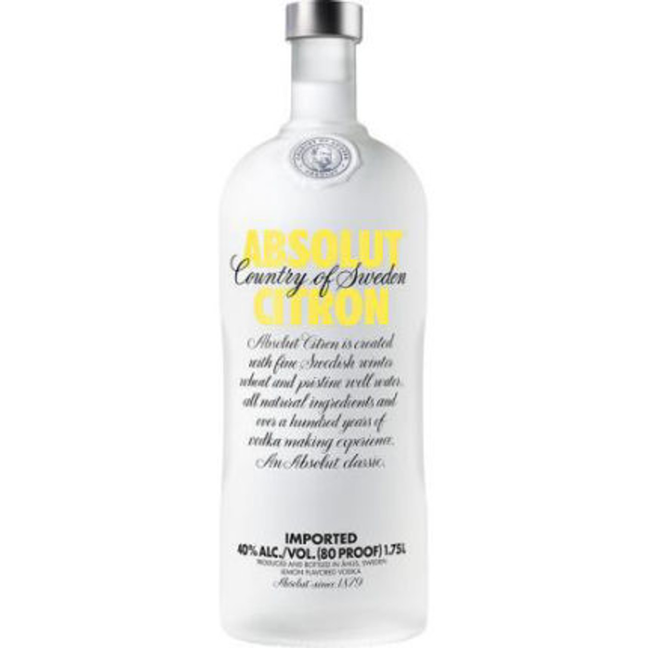 Absolut Citron Swedish Grain Vodka 1.75L