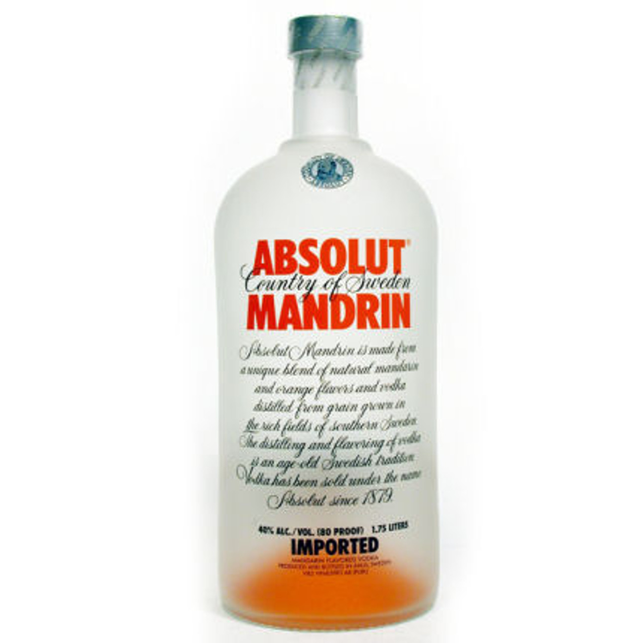 Absolut Mandrin Swedish Grain Vodka 1.75L